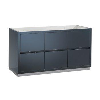 "Fresca Valencia 60"" Dark Slate Gray Free Standing Single Sink Modern Bathroom Cabinet , Vanity Base: 60"" W x 19"" D x 30"" H"
