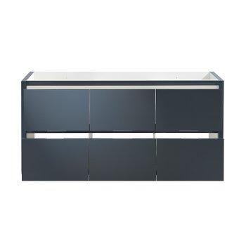 "60"" Dark Slate Gray Single Sink Opened Front View"