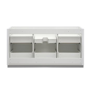 """60"""" Glossy White Single Sink Back View"""