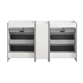 """60"""" Gray Partitioned Cabinet Only Inside View"""