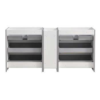 """72"""" Gray Partitioned Cabinet Only Inside View"""