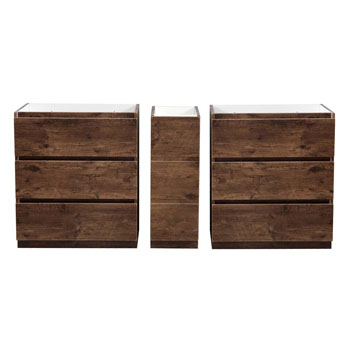 """72"""" Rosewood Partitioned Cabinet Only Split View"""