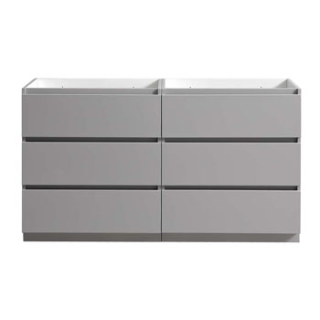 """60"""" Gray Cabinet Only Front View"""