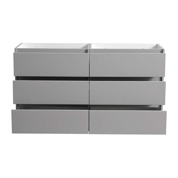 """60"""" Gray Cabinet Only Drawers Open"""
