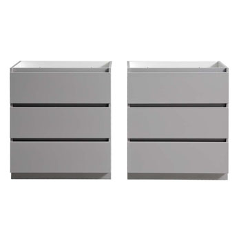 """60"""" Gray Cabinet Only Split View"""