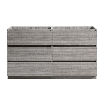 """60"""" Glossy Ash Gray Cabinet Only Front View"""