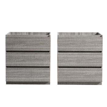 """60"""" Glossy Ash Gray Cabinet Only Split View"""