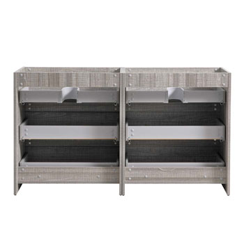 """60"""" Glossy Ash Gray Cabinet Only Inside View"""