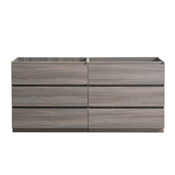 """60"""" Gray Wood Cabinet Only Front View"""