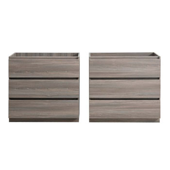 """60"""" Gray Wood Cabinet Only Drawers Open"""