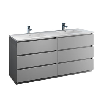 """72"""" Gray Cabinet with Sink Product View"""