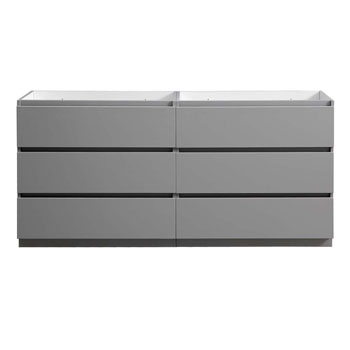 """72"""" Gray Cabinet Only Front View"""