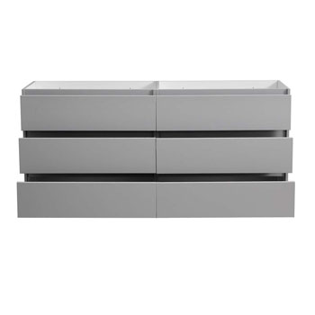 """72"""" Gray Cabinet Only Drawers Open"""