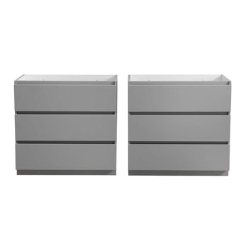 """72"""" Gray Cabinet Only Split View"""