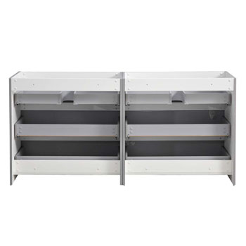 """72"""" Gray Cabinet Only Inside View"""