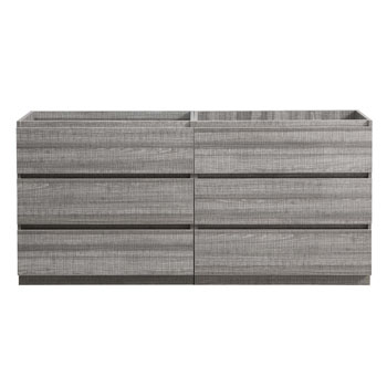 """72"""" Glossy Ash Gray Cabinet Only Front View"""