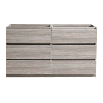 """72"""" Gray Wood Cabinet Only Front View"""