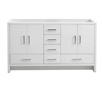 Glossy White Double Cabinet Only Front View