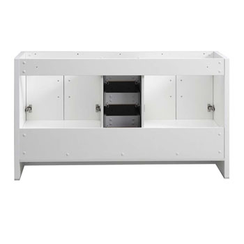 Glossy White Double Cabinet Only Inside View