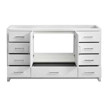 Glossy White Single Cabinet Only Front View