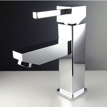 "Fresca Bevera Single Hole Mount Bathroom Vanity Faucet in Chrome, Dimensions: 1-5/8"" W x 6"" D x 6-3/4"" H"