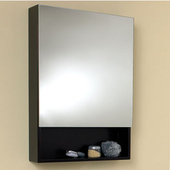 "Fresca 24"" Wide Espresso Bathroom Wall Mounted Medicine Cabinet with Small Bottom Shelf, Dimensions: 23-5/8"" W x 33-1/2"" H x 5-7/8"" D"