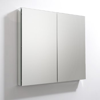 "Fresca 40"" Wide x 36"" Tall Bathroom Medicine Cabinet w/ Mirrors (2 Mirrored Doors), 39-1/2"" W x 5"" D x 36"" H"