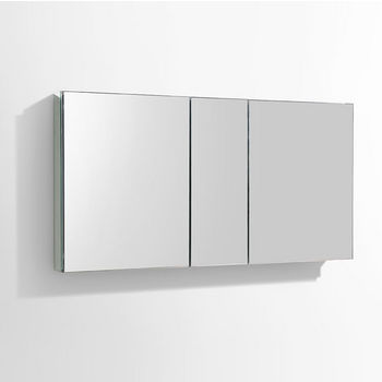 """Fresca 50"""" Wide Bathroom Wall Mounted Medicine Cabinet with Mirrors, Dimensions: 49"""" W x 26"""" H x 5"""" D"""