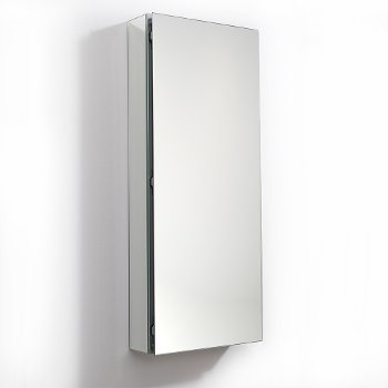 "Fresca 15"" Wide x 36"" Tall Bathroom Medicine Cabinet w/ Mirrors (1 Mirrored Door), 15"" W x 5"" D x 36"" H"