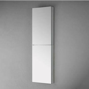 """Fresca 52"""" Tall Bathroom Wall Mounted Medicine Cabinet with Mirrors, Dimensions: 15"""" W x 52"""" H x 5"""" D"""