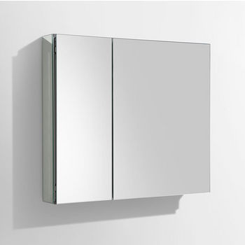 """Fresca 30"""" Wide Bathroom Wall Mounted Medicine Cabinet with Mirrors, Dimensions: 29-1/2"""" W x 26"""" H x 5"""" D"""