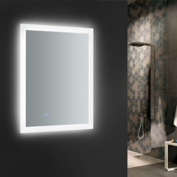 """24"""" x 30"""" Silver w/ LED Lighting and Defogger"""