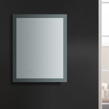 """24"""" x 30"""" Silver Vertical Hung LED Off Front View"""