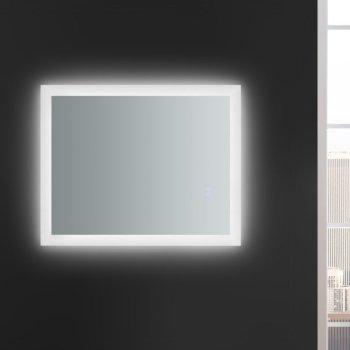 "24"" x 30"" Silver Hortizontal Hung View LED Lighting On"