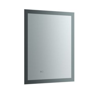 """24"""" x 30"""" Silver Vertical Hung Product View LED Lighting Off"""