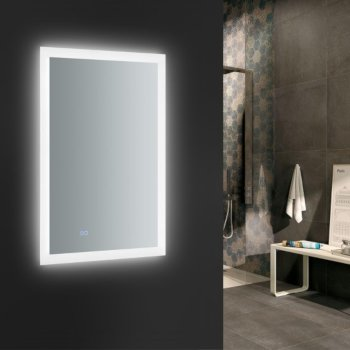 """24"""" x 36"""" Silver w/ LED Lighting and Defogger"""