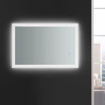 "24"" x 36"" Silver Hortizontal Hung View LED Lighting On"