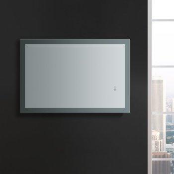 "24"" x 36"" Silver Hortizontal Hung View LED Lighting Off"