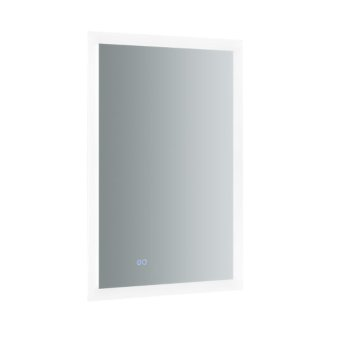 """24"""" x 36"""" Silver Vertical Hung Product View LED Lighting On"""
