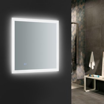 """30"""" x 30"""" Silver w/ LED Lighting and Defogger"""