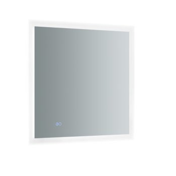 """30"""" x 30"""" Silver Product View LED Lighting On"""