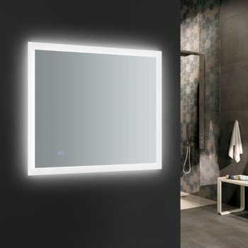 """36"""" x 30"""" Silver w/ LED Lighting and Defogger"""