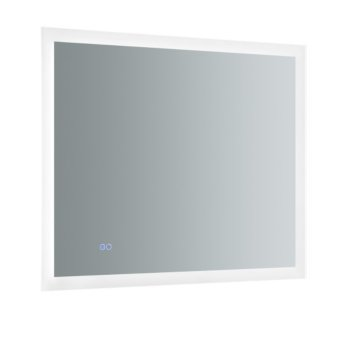 """36"""" x 30"""" Silver Hortizontal Hung Product View LED Lighting On"""