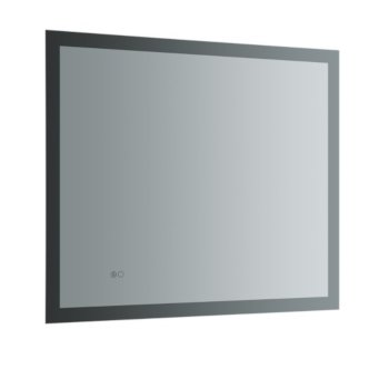 """36"""" x 30"""" Silver Hortizontal Hung Product View LED Lighting Off"""