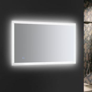 """48"""" x 30"""" Silver w/ LED Lighting and Defogger"""