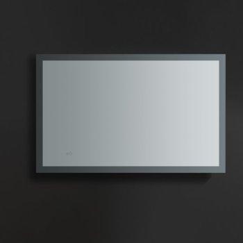 "48"" x 30"" Silver Hortizontal Hung View LED Lighting Off"