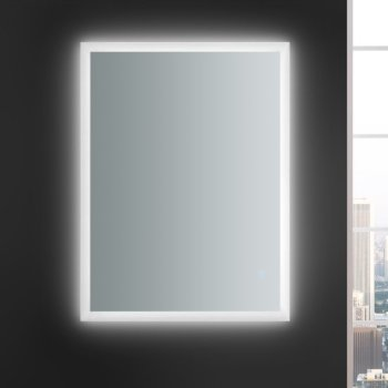 """48"""" x 36"""" Silver Vertical Hung LED Off Front View"""