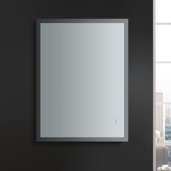 """48"""" x 36"""" Silver Vertical Hung LED On Front View"""