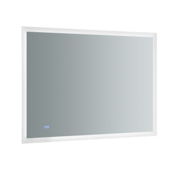 """48"""" x 36"""" Silver Hortizontal Hung Product View LED Lighting On"""