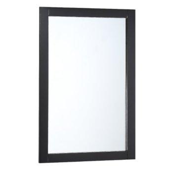 """Fresca Manchester 20"""" Black Traditional Bathroom Mirror, 20"""" W x 1"""" D x 30"""" H"""
